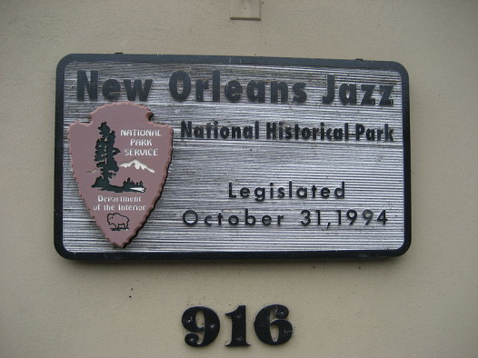 New Orleans Jazz Historical Park sign