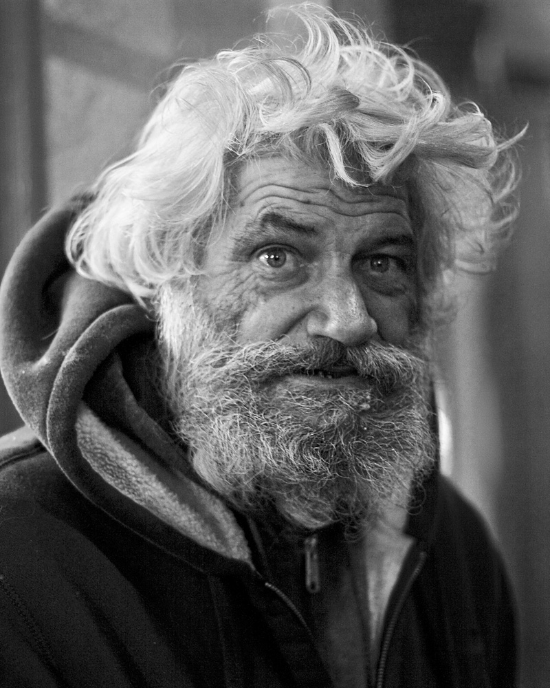 French Quarter, Cafe du Monde, homeless, New Orleans, portrait, Jason Kruppa photographer