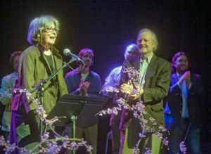 The fest was saddened by the death of Dean Faulkner Wells, shown here with her husband, Larry,