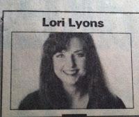 Lori Lyons' first TP column logo, circa 1991.