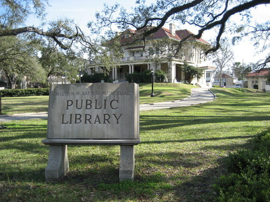 The Milton H. Latter Memorial Branch Library, located at 5120 St. Charles Avenue.