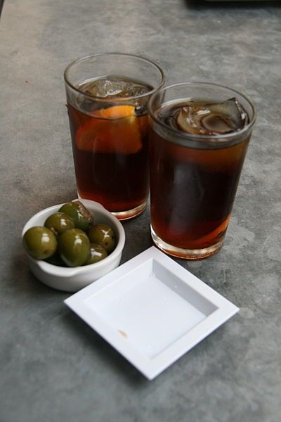 Vermouth on the rocks.