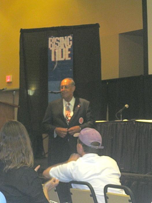 Gen. Russel Honore giving the keynote address