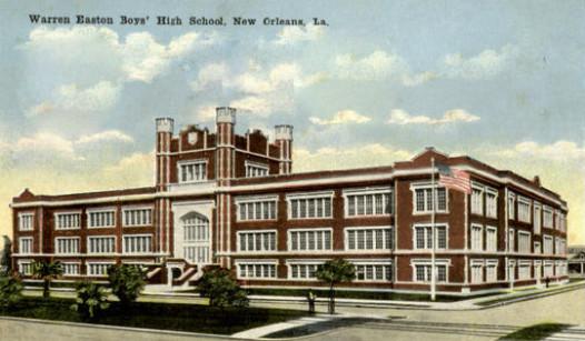 Postcard of Warren Easton school, c. 1918