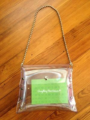 Fleurty Girl's signature bag is made from vinyl freezer-door strips