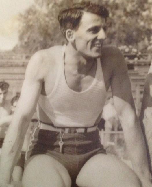 Lowell Damonte, captain of Warren Easton's first swimming team