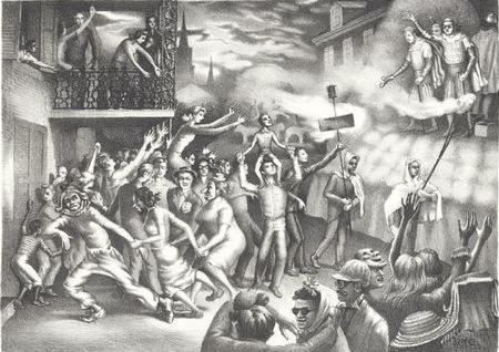 John McCrady, Carnival in New Orleans, 1947