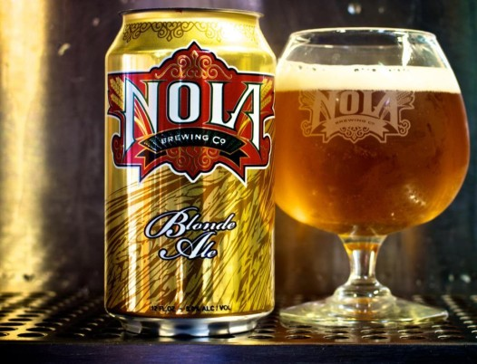 A glass of Nola Blonde.