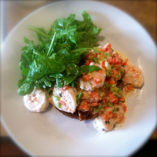 A delicious shrimp salad from Rivista on Magazine Street