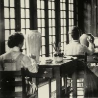 Women crafting pottery post-Civil War.