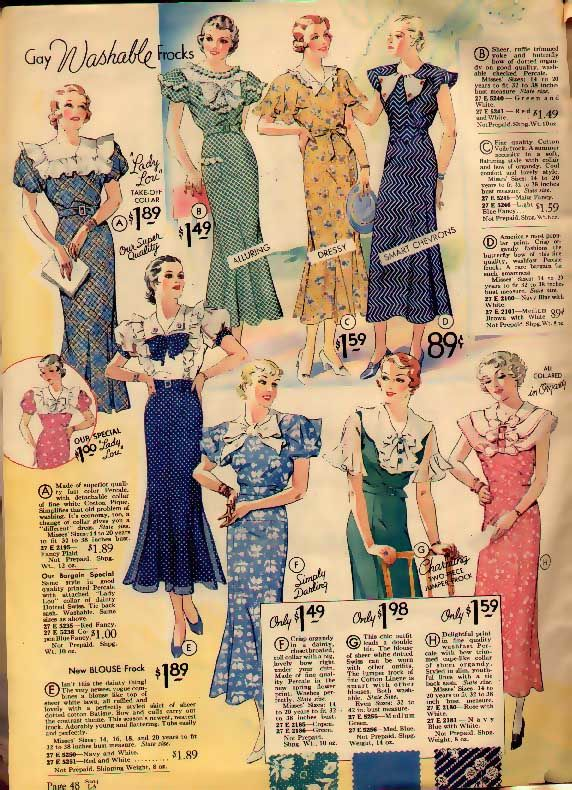 Spring fashions from the 30s