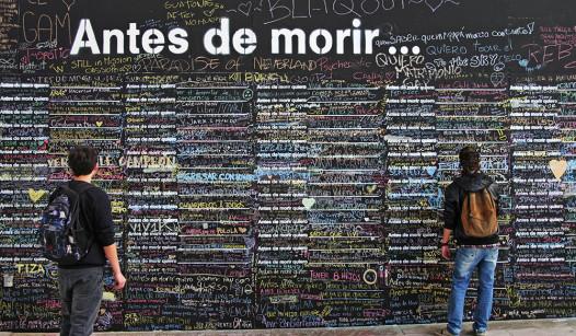 The Before I Die wall in Santiago