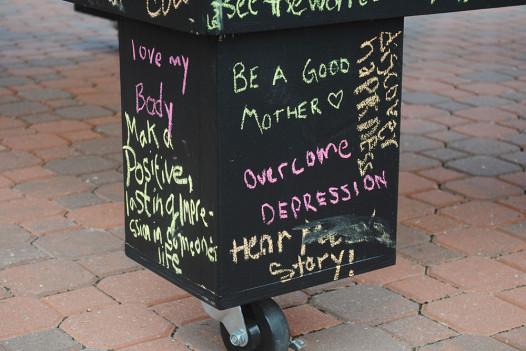 The Before I Die wall in Newport News, Virginia