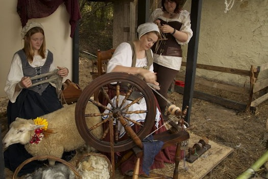 A craft demo at the Louisiana Renaissance Festival