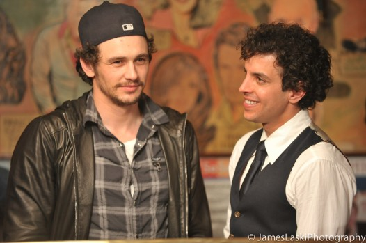 James Franco and Sal Lauren on the set of Sal