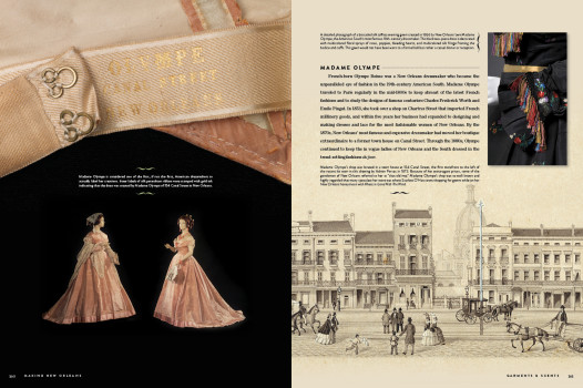 Madame Olympe, the first woman in America to put labels on her dresses
