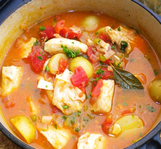 Fishermans Stew, to be served as part of the maritime-inspired menu