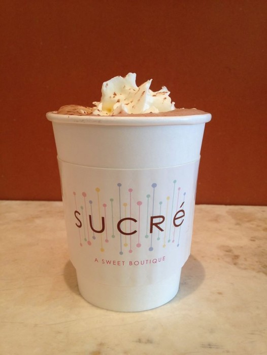 Hot chocolate from Sucré