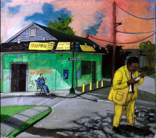 """""""Facing Leaner Times Ahead,"""" another painting in Phillips' Fats Domino series."""