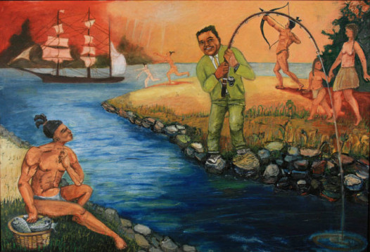 """""""Young fats goes Fishing with the Natives,"""" an"""