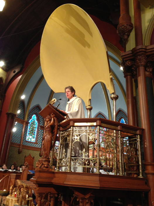 Dr. Shori delivering her sermon at Christ Church Cathedral