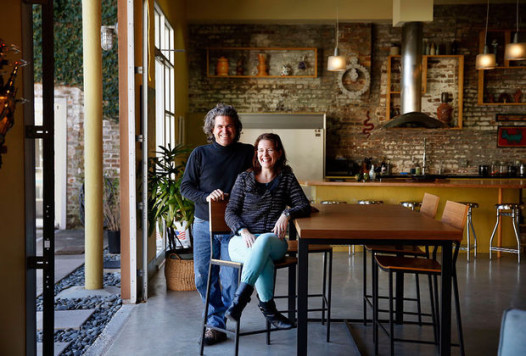 Matthew Redding's and Bonita Day's home has been used in shoots for movies and television commercials. They live in a contemporary loft in a warehouse building they own along with Matthew's brother, Mark, and Mark's wife, architect Jackie Case, who designed the renovation of the warehouse. (Photo by Kathleen Flynn, Nola.com / The Times-Picayune).