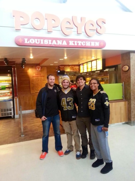 New Orleans transplants find a way to get lucky Popeye's in Salt Lake City.