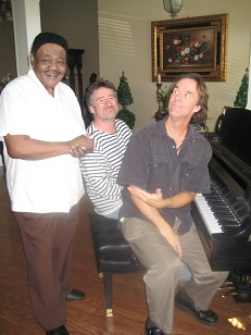 Tom McDermott with Fats Domino and Jon Cleary