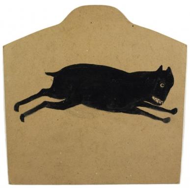 'Black Dog Running,' by Bill Traylor