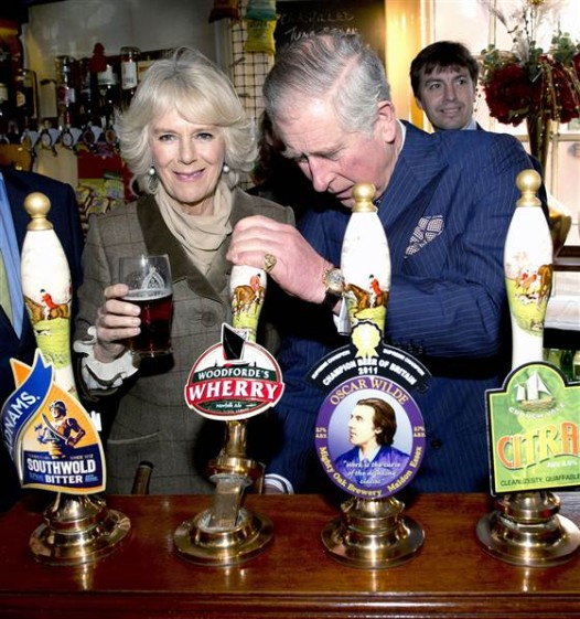 Charles & Camilla out collecting pub glasses for Mum (Image: Royal Family)