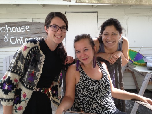graNOLA artists (from left): Maddie Futrell, Emily Swietilk and Rocky Rudov