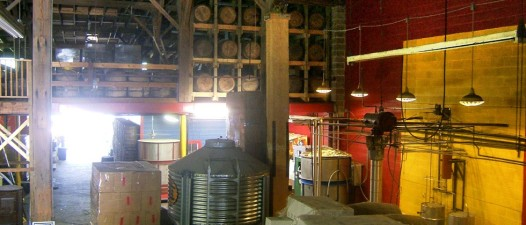 Inside the Old New Orleans Rum distillery.