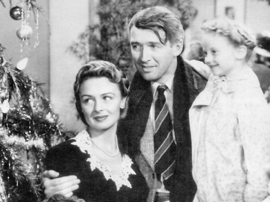 "A still from the classic film ""It's a Wonderful Life"""