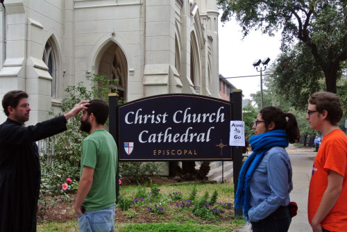 Christ Church Cathedral is offering Ashes to Go as an Ash Wednesday outreach today.