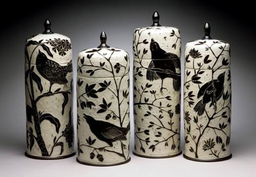 Karen Newgard - Tall Bird Jars