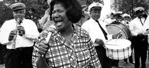 Mahalia Jacfson at the 1970 Jazz Fest
