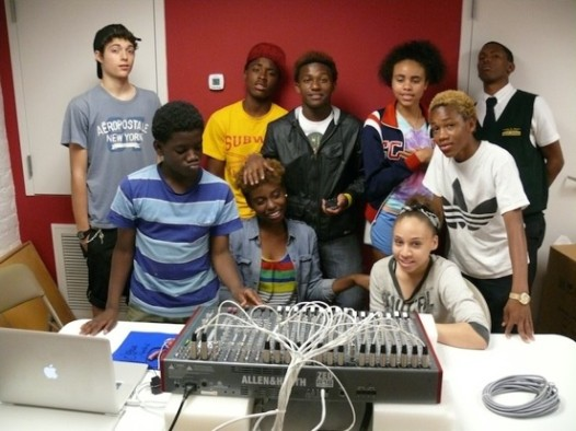 Students with New Orleans Youth Sound Experience will be working the sound system at Congo Kids.
