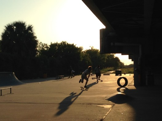 """The """"Sunny Side"""" area of Parisite Skate Park is currently in use, but awaits a re-design. credit: Laine Kaplan-Levenson"""