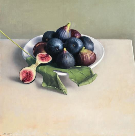 Still Life with Dark Figs