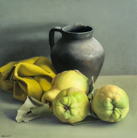 Still Life with Quinces and Black Vase