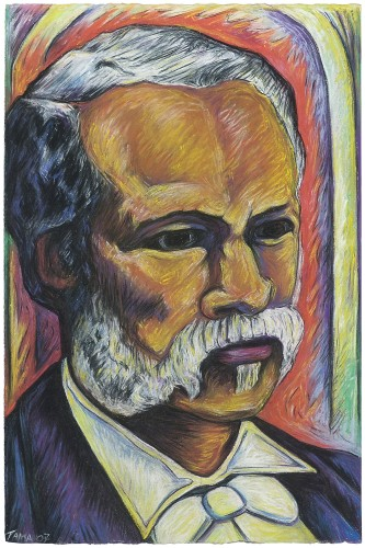 """""""Dr. Louis Charles Roudanez-Free-Man-of-Color,"""" one of Torres' works that will be on display at the Sesquicentennial Celebration at Le Musee."""