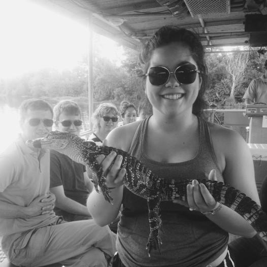 Me holding a 3-year-old alligator -- the photo that nearly gave my father a heart attack. Apparently they have salmonella.