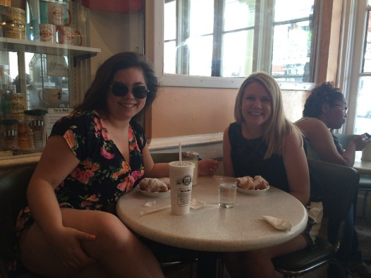 The beignets were well worth the near heat stroke we risked in walking around the Quarter on a sweltering day.