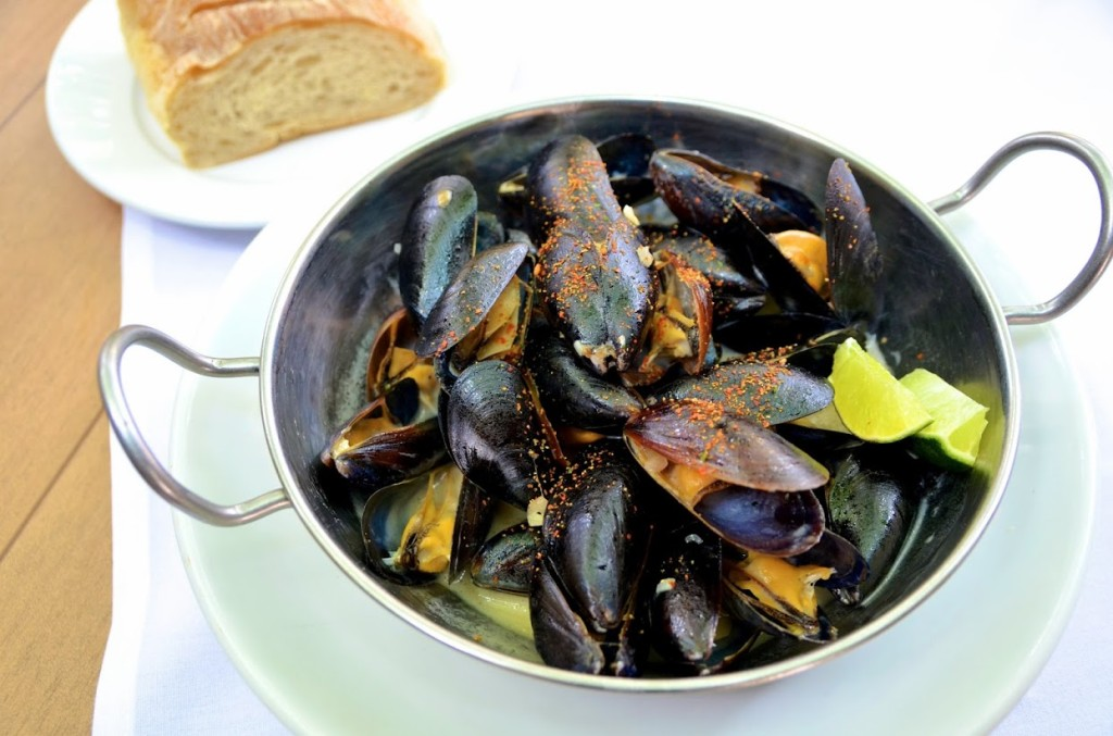 Steamed mussels in a chili, coconut and lime broth, courtesy of Chef Jonathan Lestingi.