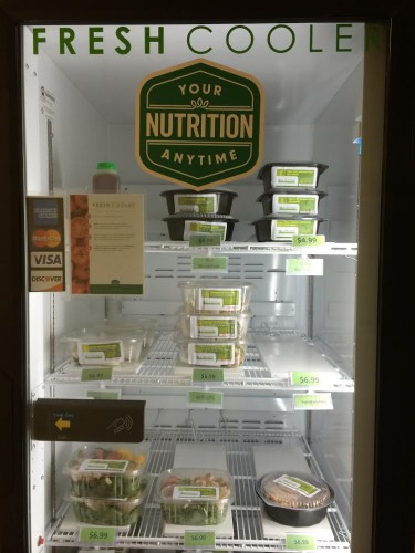 Fast (health) food: Options do exist, as in this fresh food vending machine (Photo: Summer Suleiman)