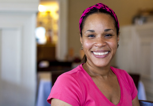 Tia Henry, co-owner of the Ninth Ward restaurant Café Dauphine. (Photo by: Hanna Rasanen)