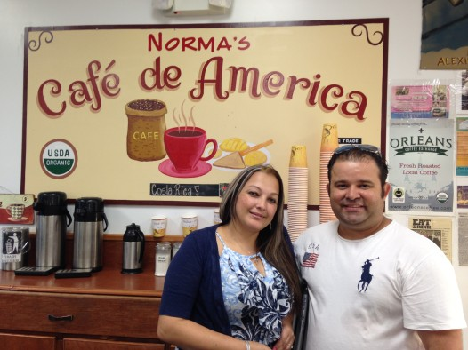Jose and his wife in Normas