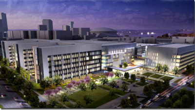 A rendering of University Medical Center in the new biomedical district. Photo: biodistrictneworleans.org