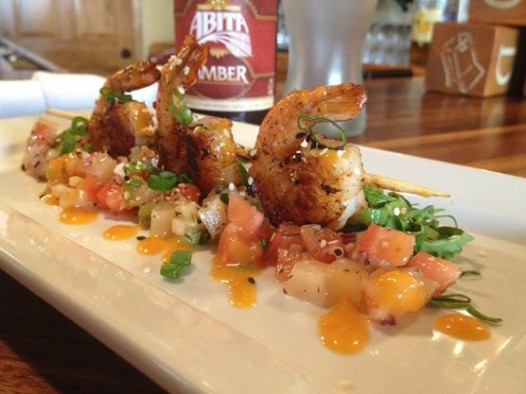 Caribbean jerk shrimp with pineapple pico de gallo at the Brown Bag Gourmet. Photo: The Brown Bag Gourmet Facebook