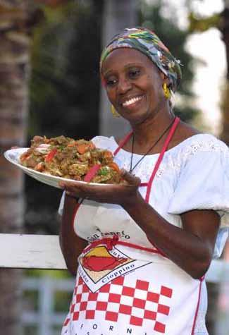 Haitian lecturer and storyteller Liliane Nerette-Louis will present culinary demos and stories at the Downriver Festival on Saturday. Photo : Craig Ambrosio